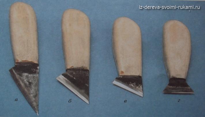 инструмент для резьбы по дереву нож-косяк