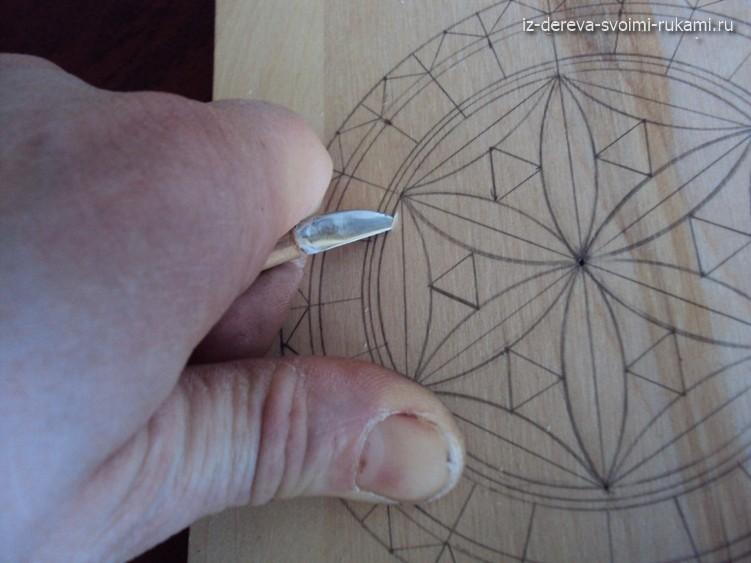 геометрическая резьба по дереву урок