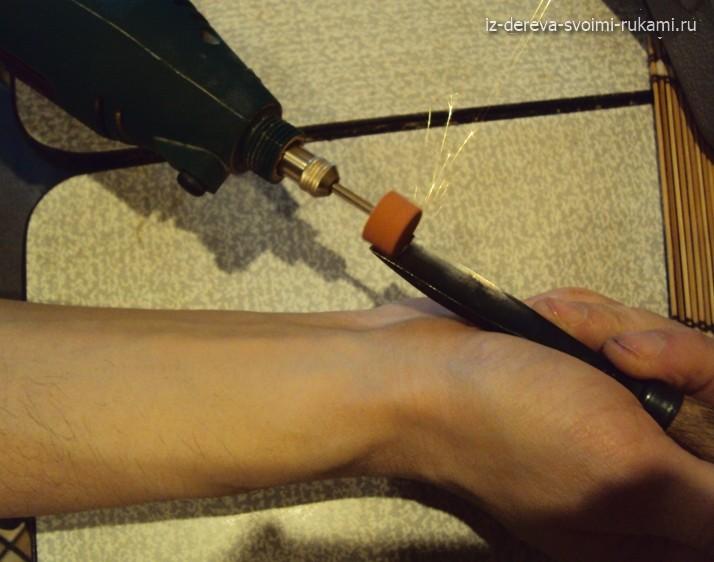 заточка режущих инструментов бормашиной