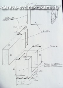 чертеж-схема элементов деревянной табуретки