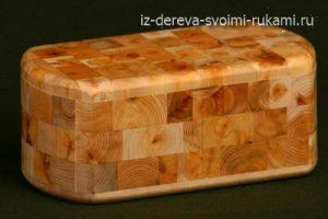 шкатулка из торцовых срезов дерева