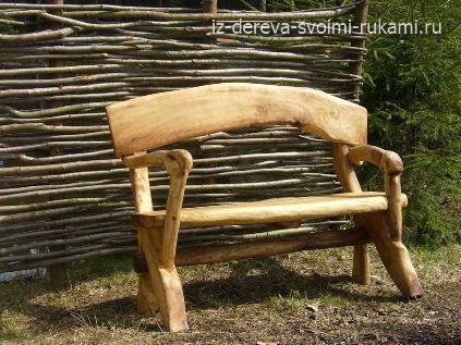 скамейка для дачи из дерева своими руками