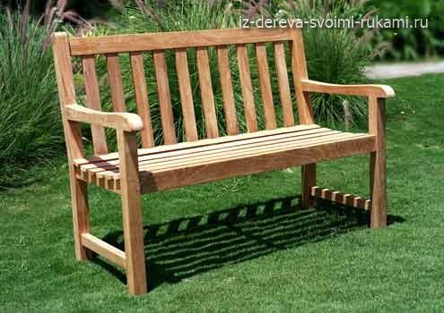 как сделать деревянную скамейку своими руками