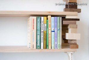 как сделать деревянные полки для книг своими руками