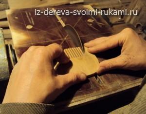 гребень для волос из дерева,изготовление