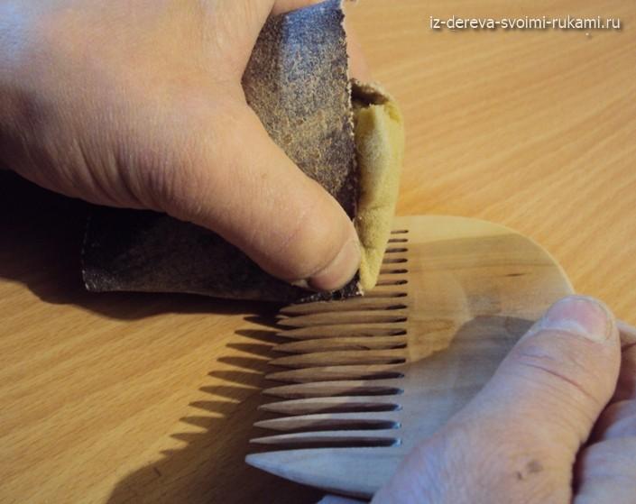 деревянный гребень для волос своими руками