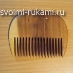 как сделать деревянный гребень для волос своими руками