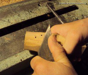 как сделать деревянные ручки,мастер-класс