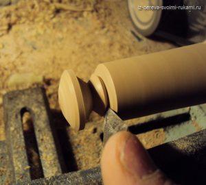 как сделать ручку из дерева