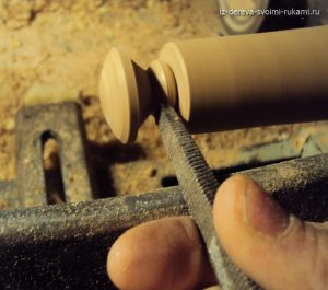 самодельная деревянная ручка для мебели
