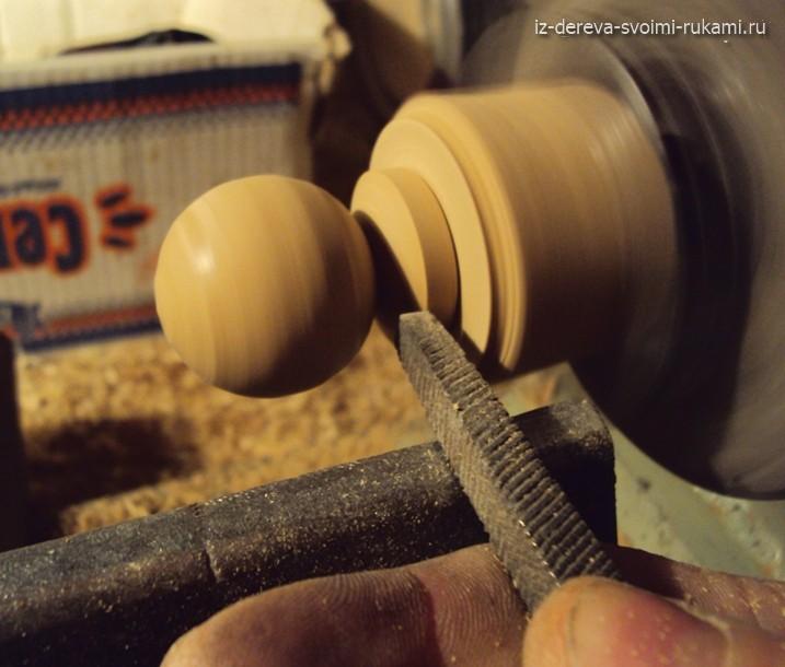 мастер-класс на токарном станке,делаем деревянную ручку