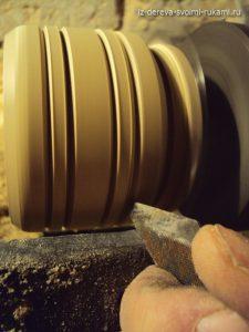 солонка деревянная, изготовление на токарном станке