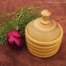 Изготовление шкатулки (солонки) из дерева на токарном станке