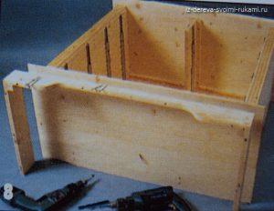 деревянный комод с выдвижными ящиками своими руками