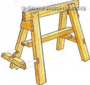ножки для теннисного стола в виде строительных лесов