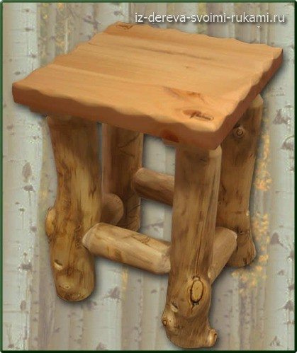 декоративная мебель из бревен