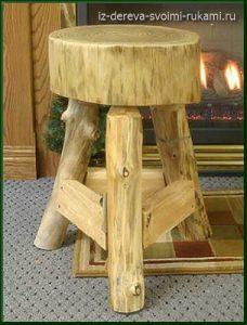 необычный деревянный табурет своими руками