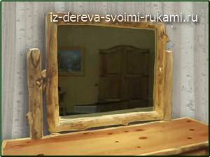 зеркало из дерева своими руками