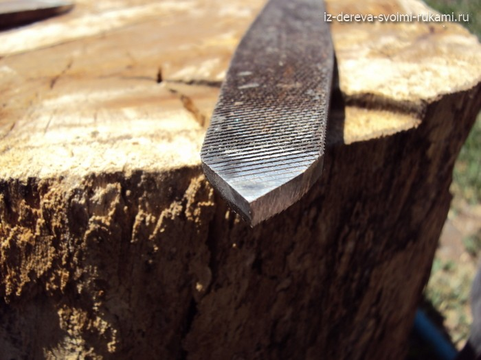 самодельный отрезной токарный резец по дереву