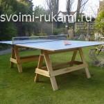как сделать теннисный стол для дачи своими руками
