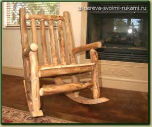 кресло-качалка из бревен своими руками