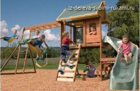 как оформить детскую площадку своими руками