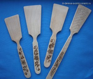 деревянная лопатка для кухни изготовление