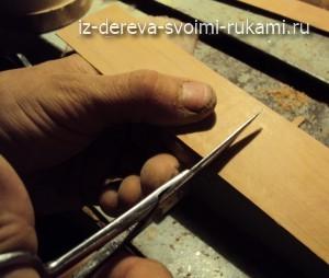 деревянная заколка для волос  своими руками