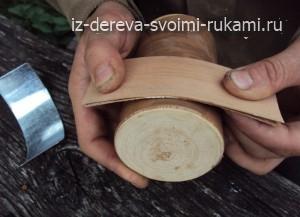 поделки из дерева своими руками, заколка для волос