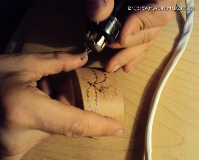 делаем заколку для волос из дерева своими руками