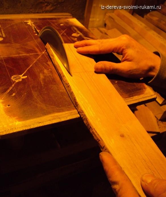 изготовление деревянной лопатки своими руками