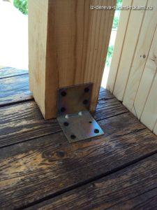 строим деревянную беседку для дачи