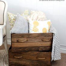 Как сделать деревянный ящик для белья своими рукамим