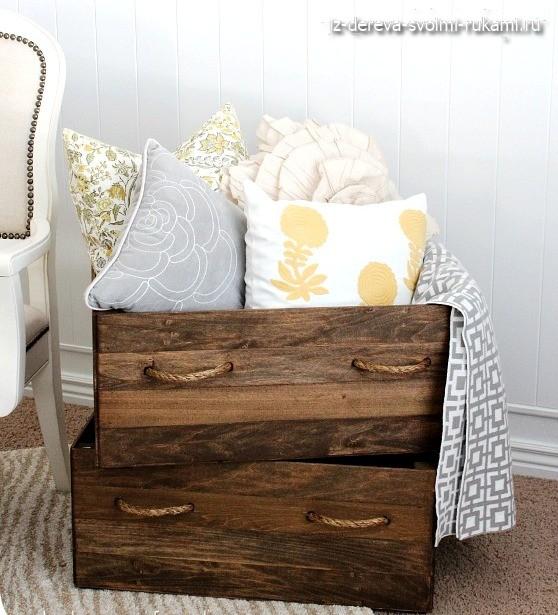 как сделать деревянный ящик для белья своими руками