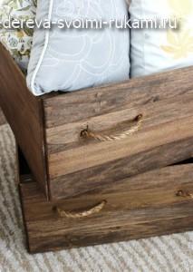 как сделать деревянный ящик для белья или игрушек своими руками