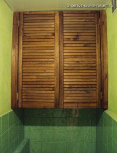 как сделать встроенный шкаф в туалет своими руками