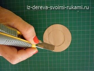изготовление абажура из шпона своими руками