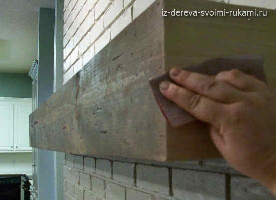 как сделать каминную полку своими руками