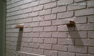 как сделать полку над камином своими руками