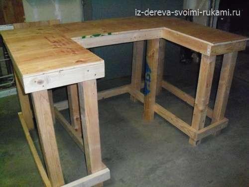 как сделать рабочее место- стол в мастерскую своими руками