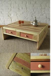 журнальный столик из деревянных поддонов своими руками