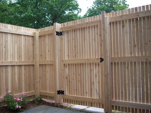 деревянные ворота фото