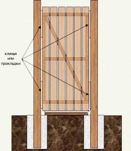 как сделать деревянную калитку своими руками