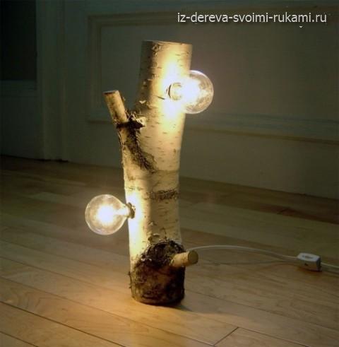 как сделать светильник из дерева своими руками
