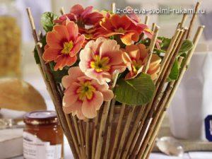 ваза для цветов из веток дерева своими руками