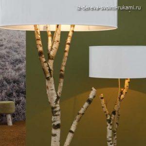 как сделать светильник из дерева своими руками фото