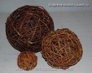 декоративные шарики из веток своими руками