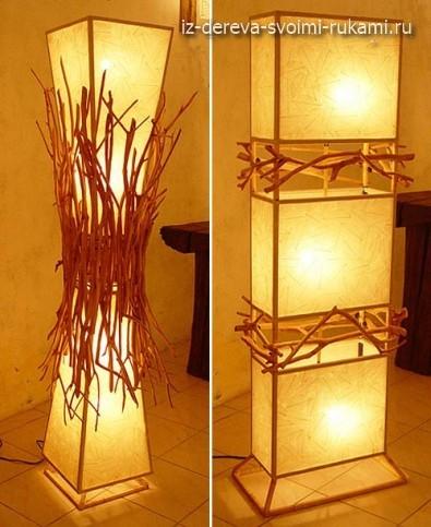 как сделать напольный светильник в эко стиле своими руками