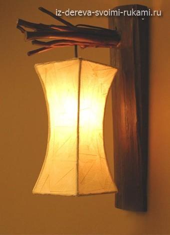 как сделать светильник в эко стиле своими руками