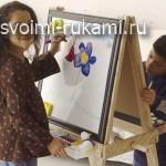 детский двухсторонний мольберт для рисования своими руками